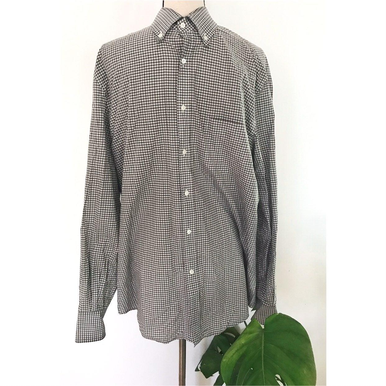 BRUNELLO CUCINELLI Windowpane shirt XL
