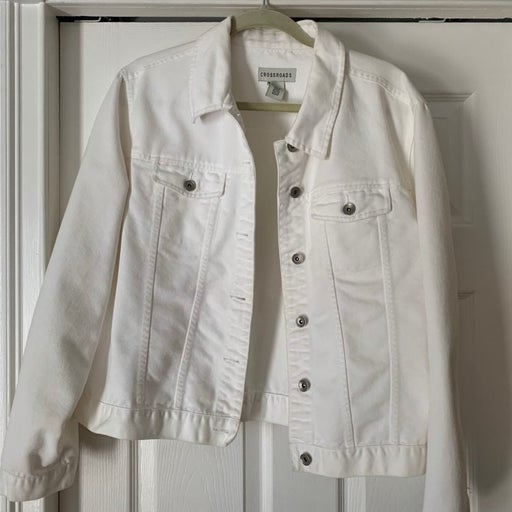 Crossroads white Jean Jacket XL