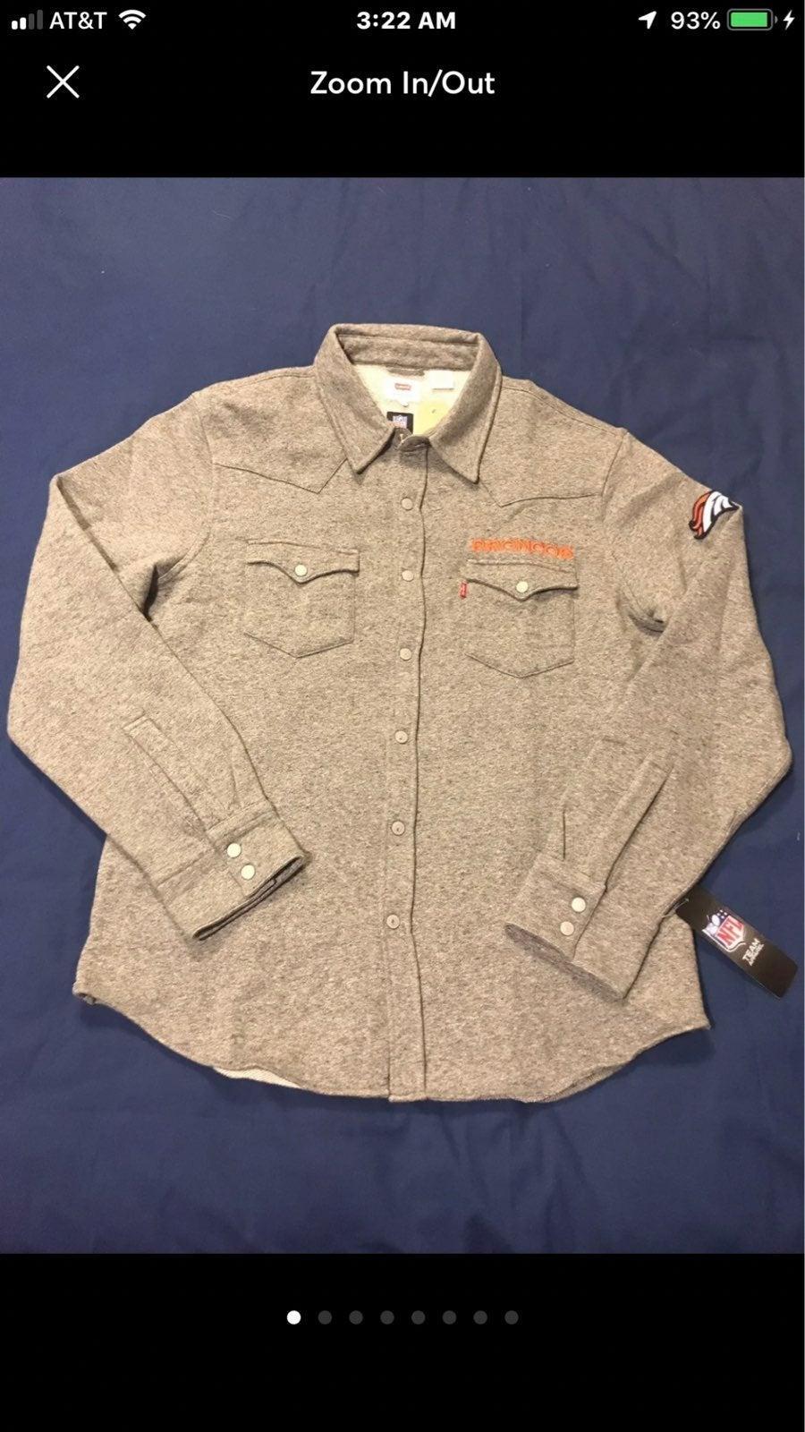 Denver broncos men or womens flannel
