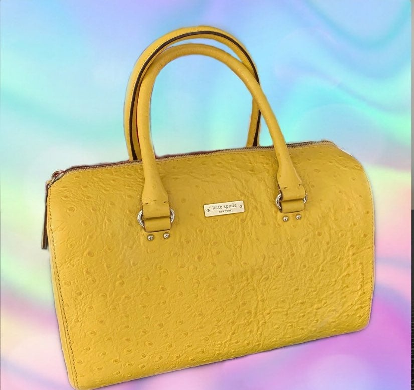 Yellow structured kate spade new york ha