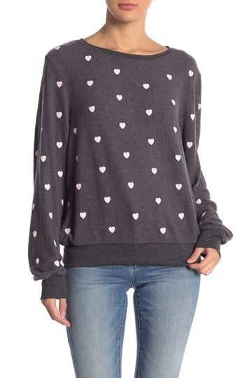 Wildfox Sweatshirt M Essential Hearts