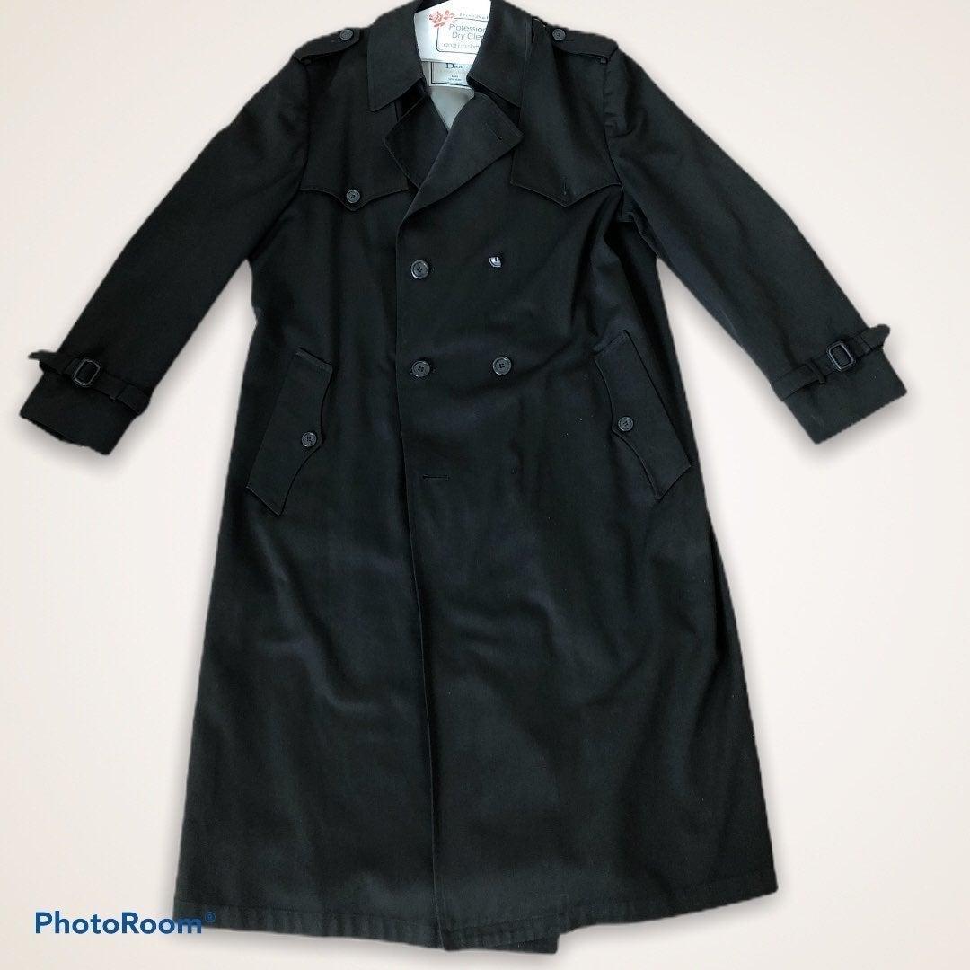 Vintage Christian Dior black Trench Coat