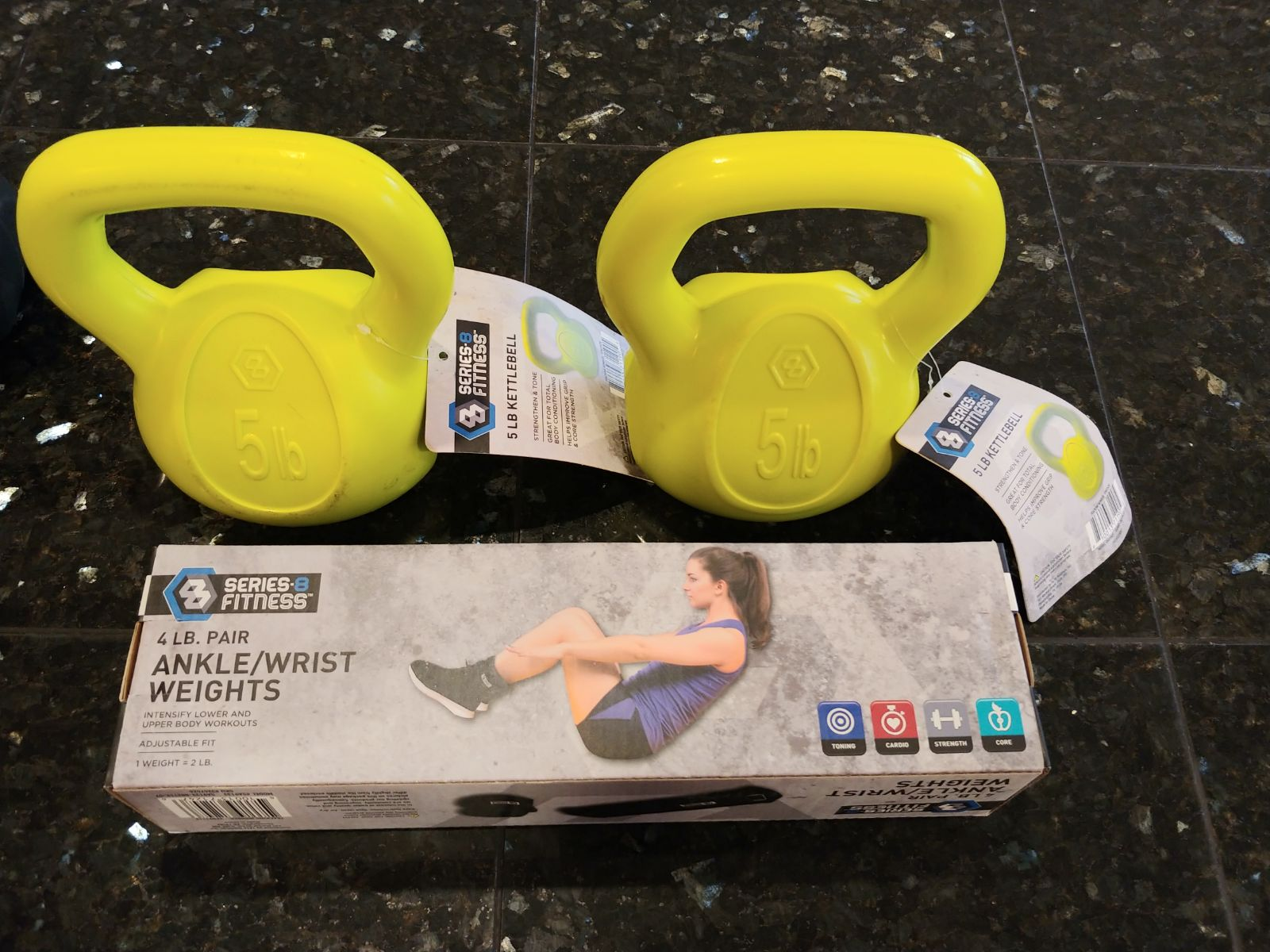 kettlebell 5 pound set & ankle weights