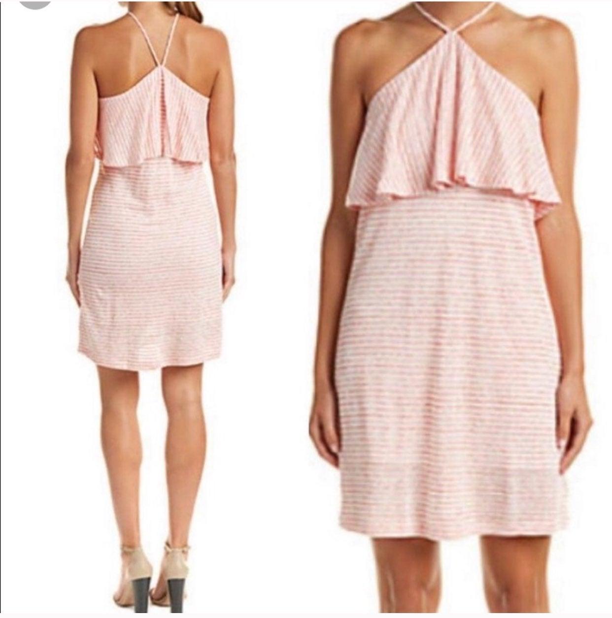 Splendid high-halter striped midi dress