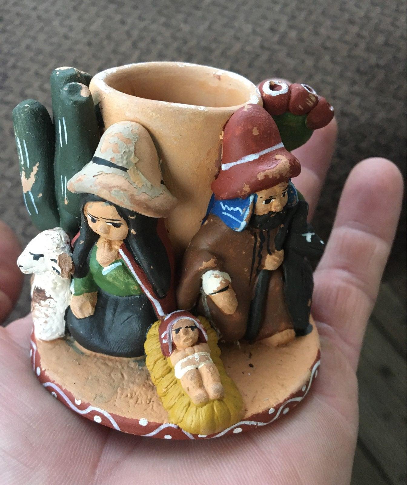 Clay pencil holder handmade