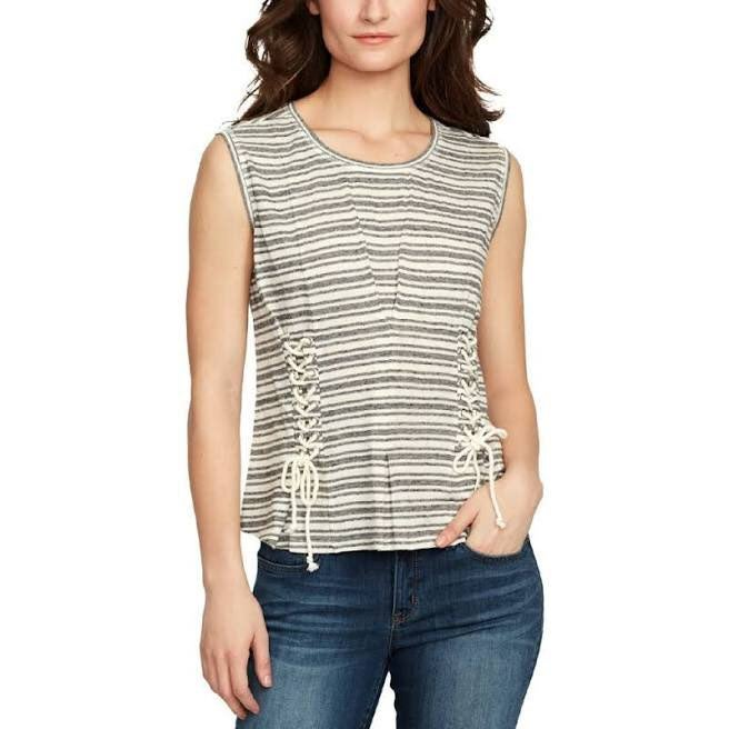 William Rast Tommie lace-up corset top