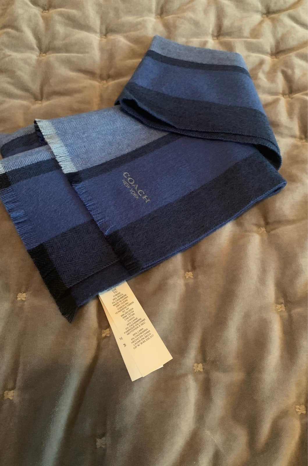 Coach mens scarf NWOT!