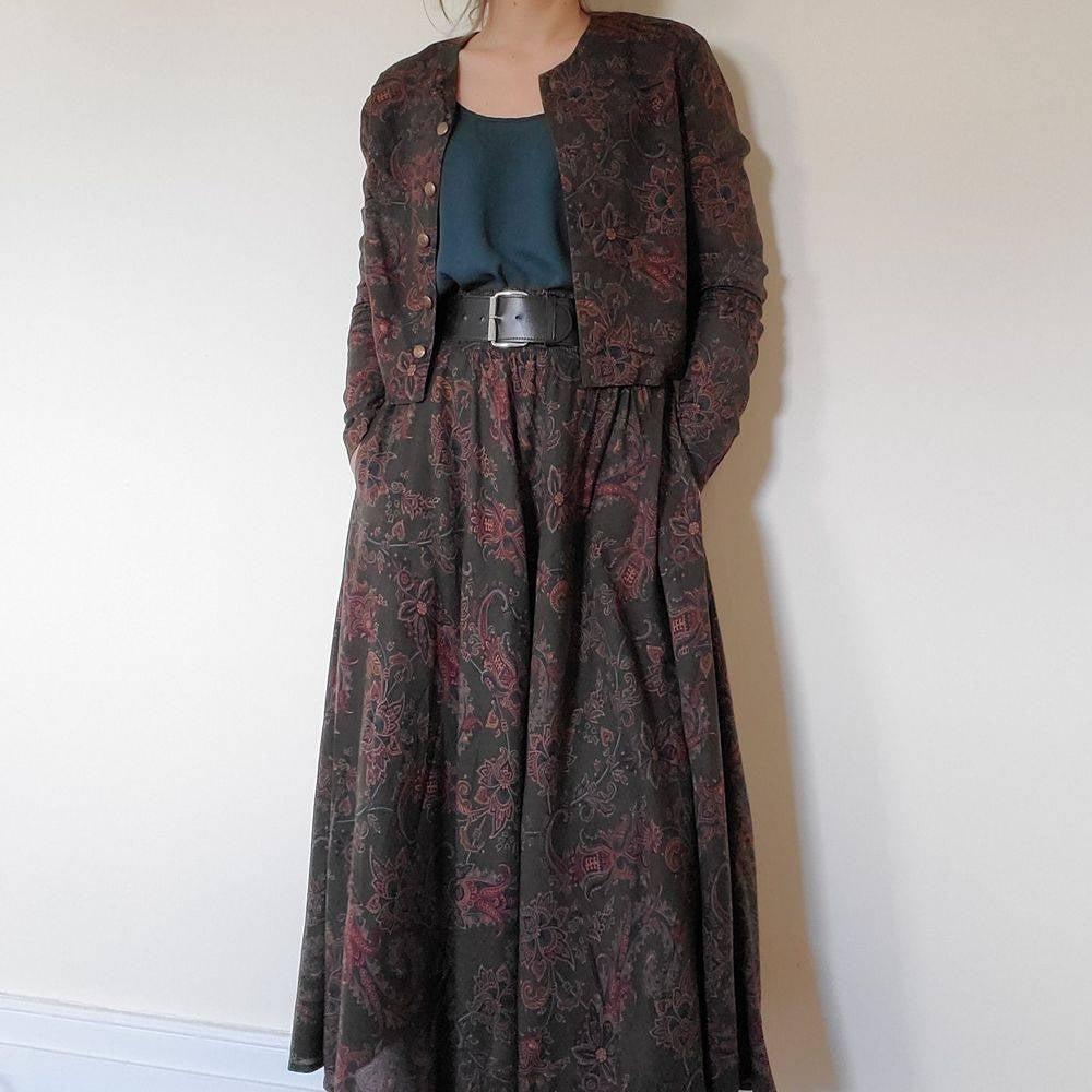 Ann Taylor Vintage Paisley Maxi Skirt 4