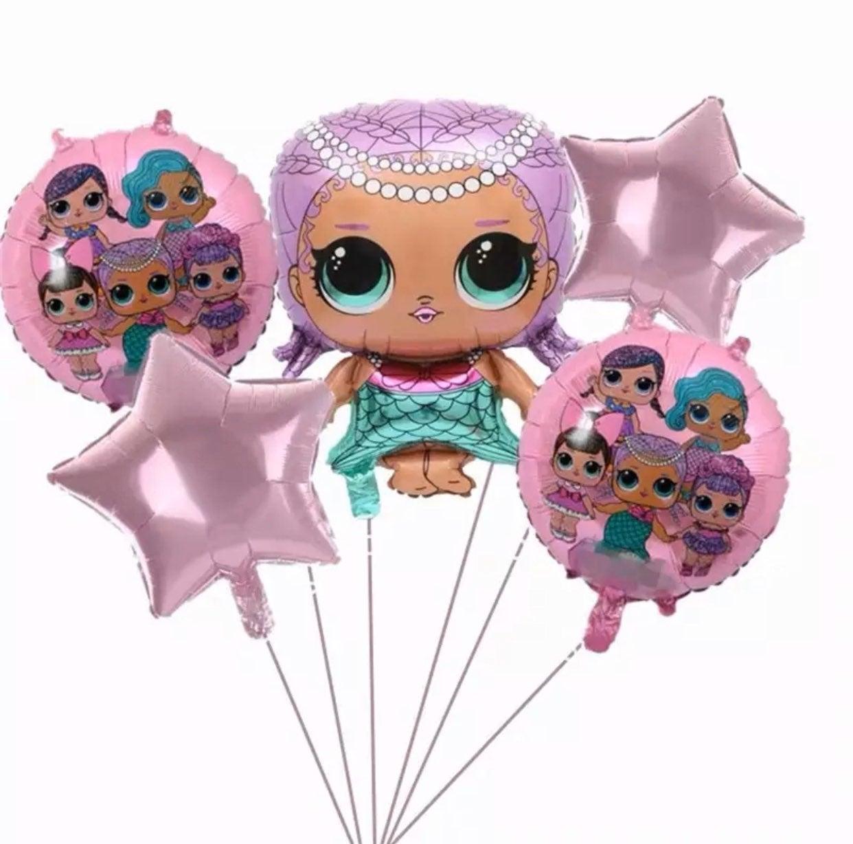 LoL 5pcs set Foil Balloons New.