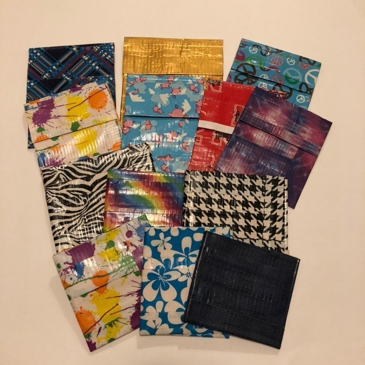 Lot of 13 Duct Tape Pouches and Wallets