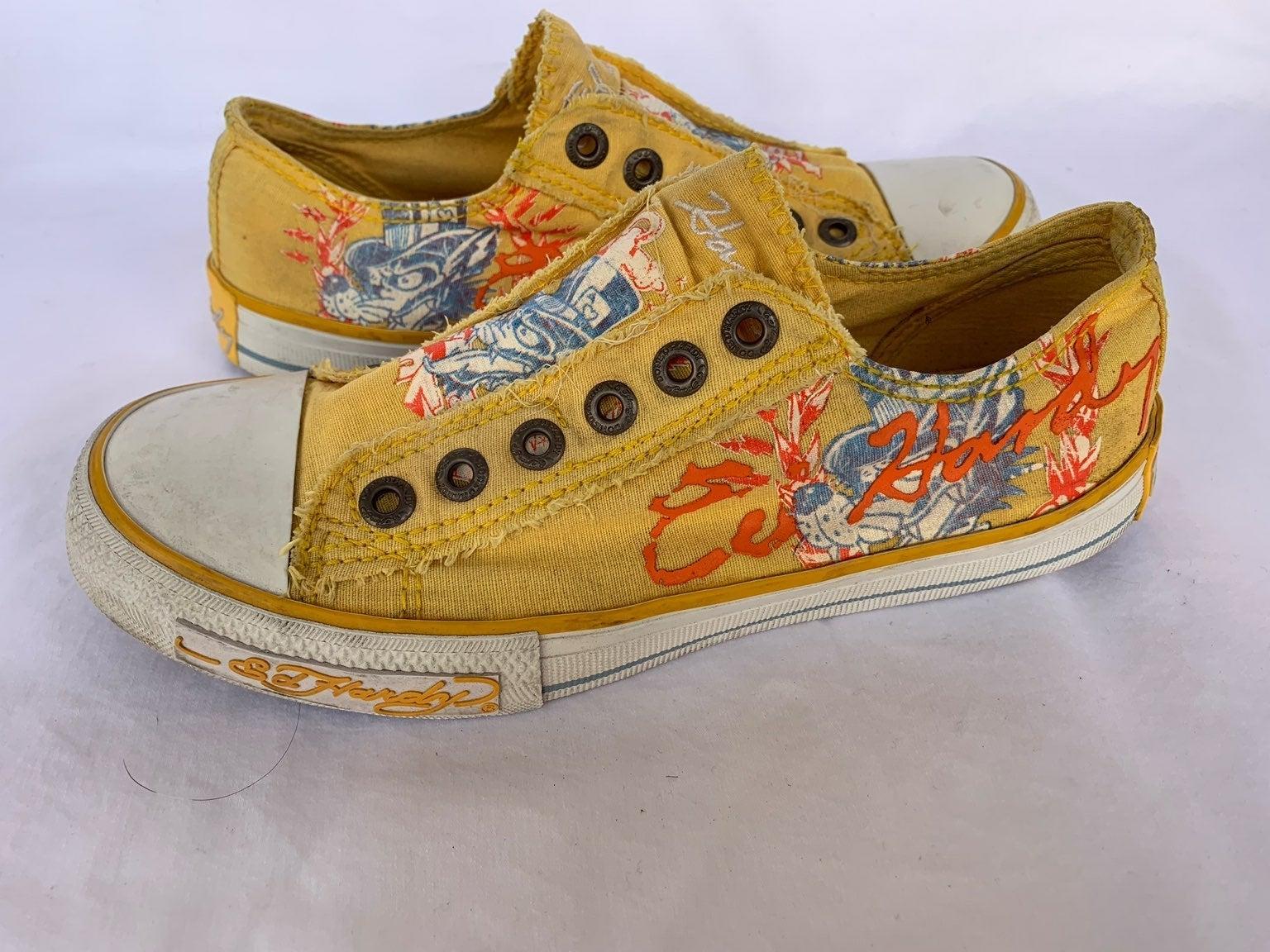 Ed Hardy yellow Canvas Slip On Sneaker 6