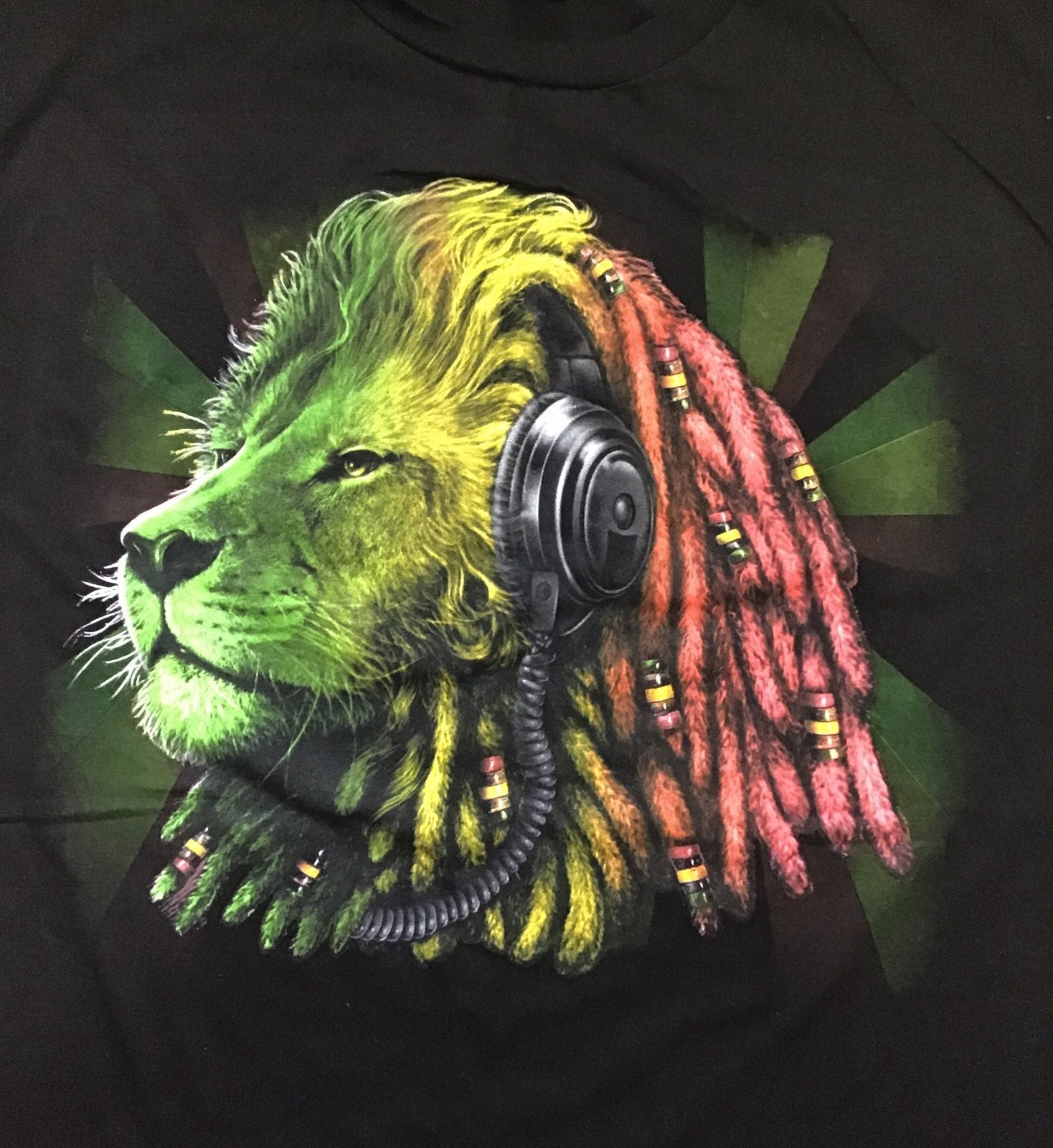 2XL Rastafari Lion T-Shirt