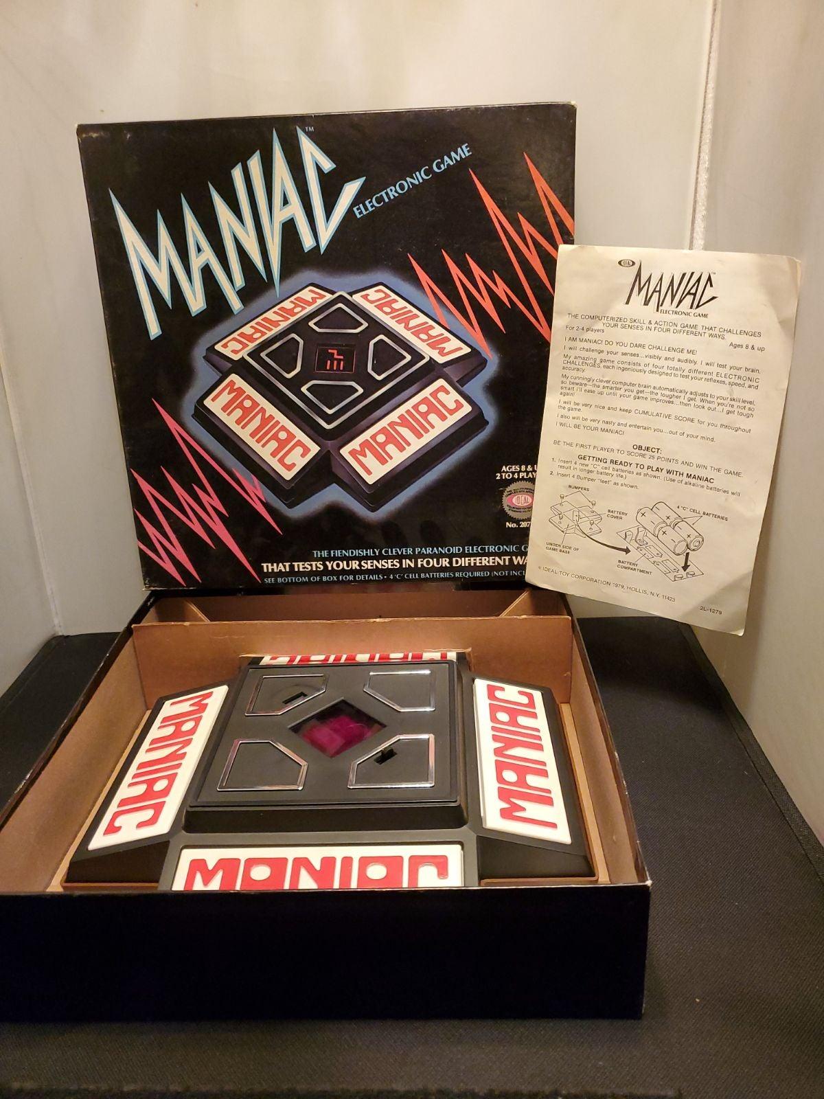 vintage Maniac Electronic Game 1979