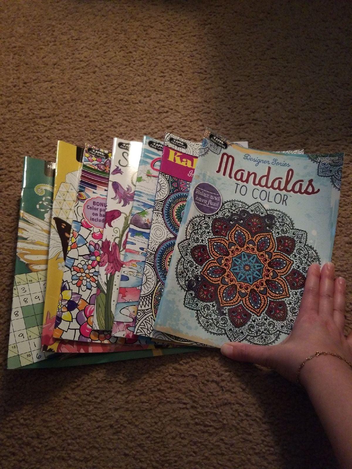 Set of activity books