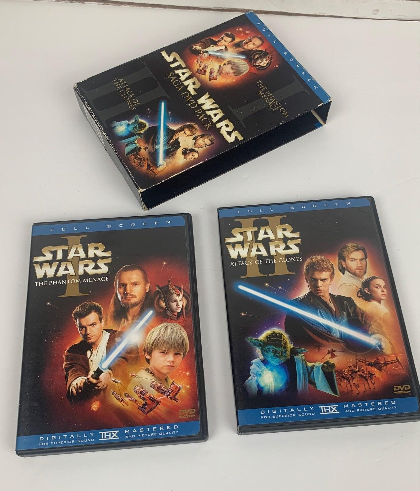 Star Wars Saga I & II full screen DVDs