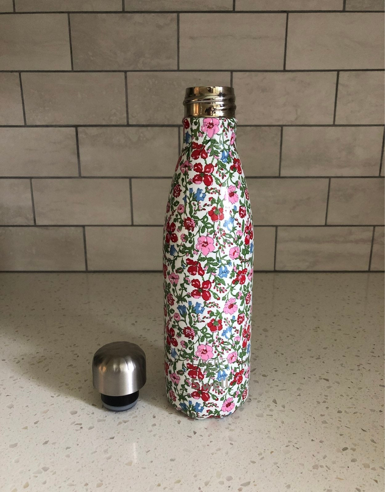 Swell Water bottle 17oz floral print