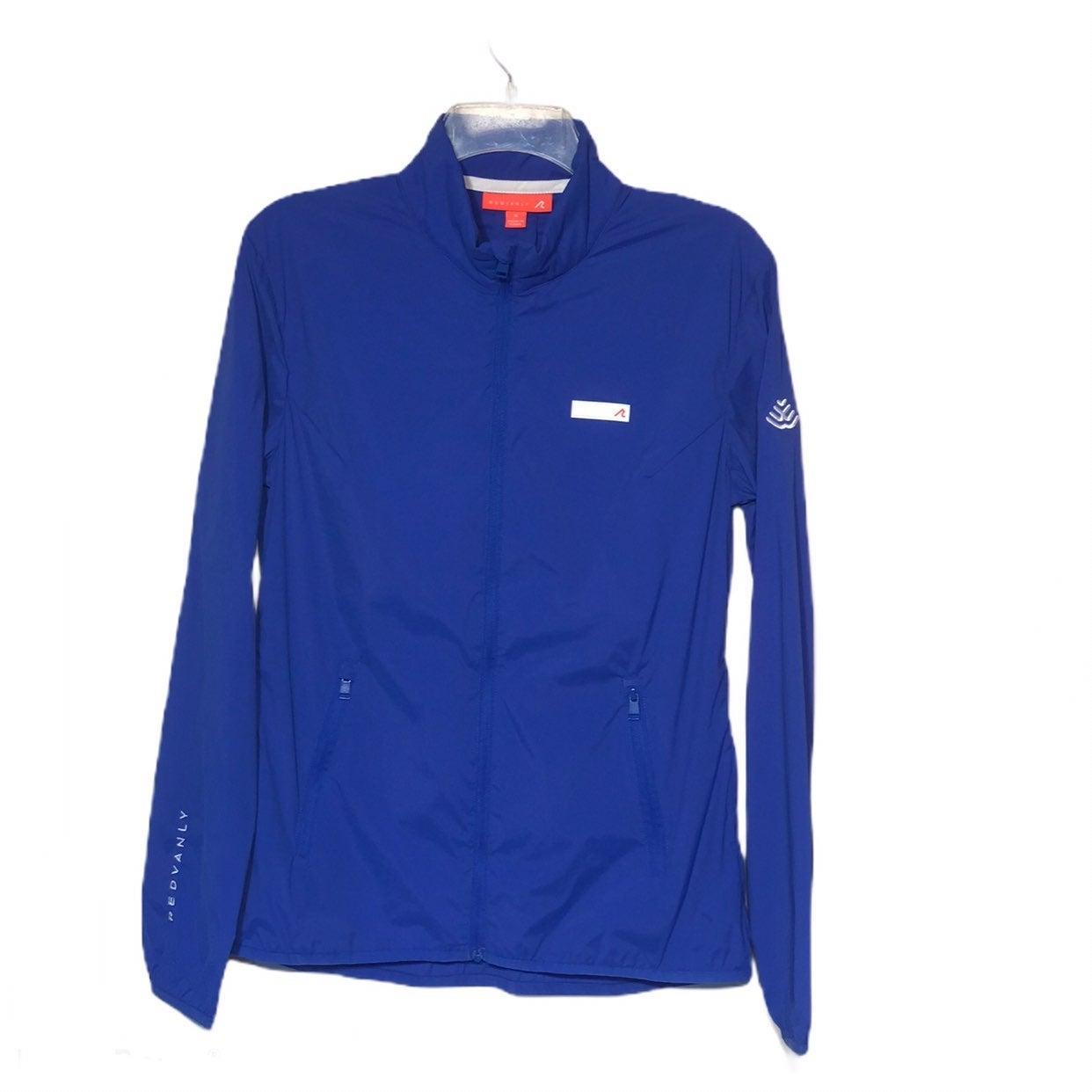 Redvanly Blue Windbreaker Golf Jacket