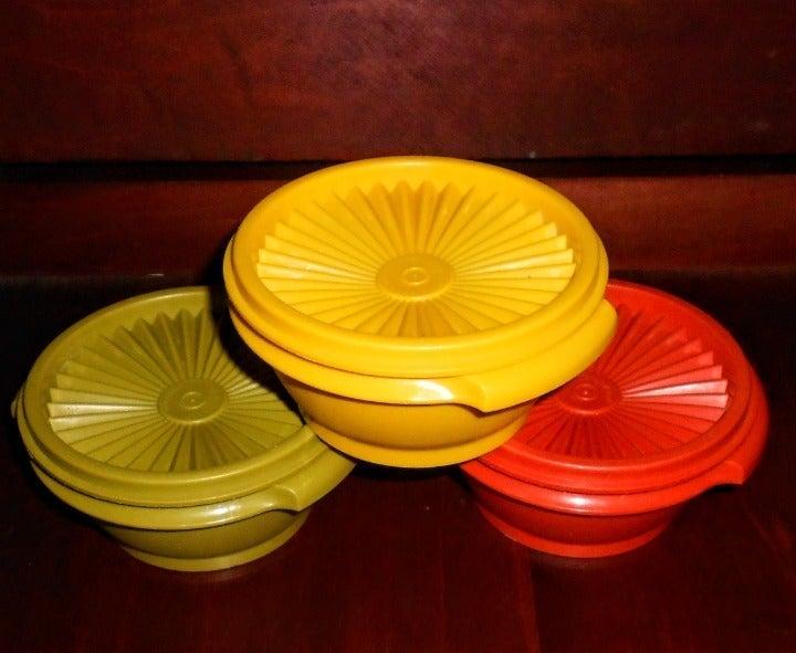 6 pc Vintage Tupperware Set 3 Bowls+Lids