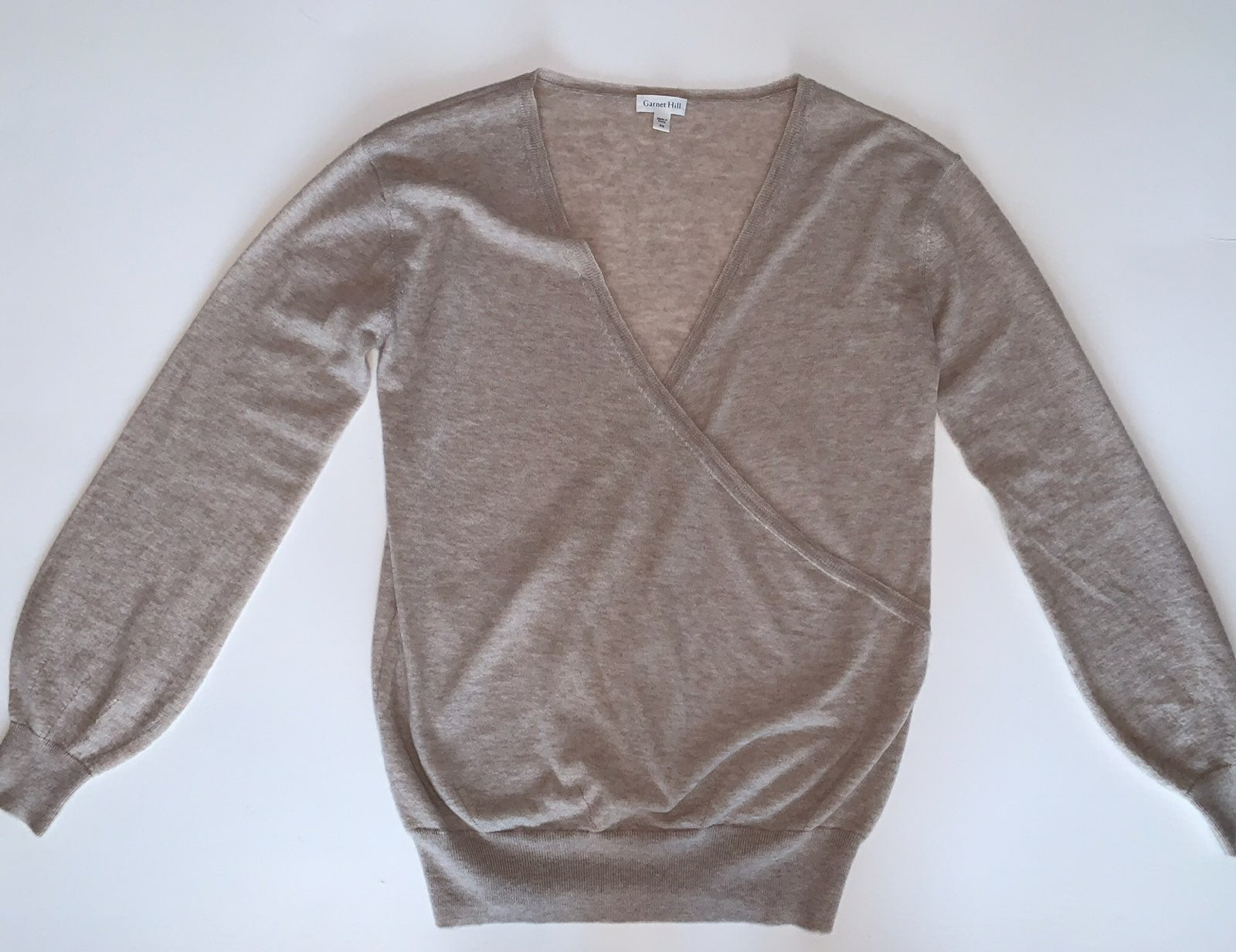 Garnet Hill Cashmere Crossfront Sweater