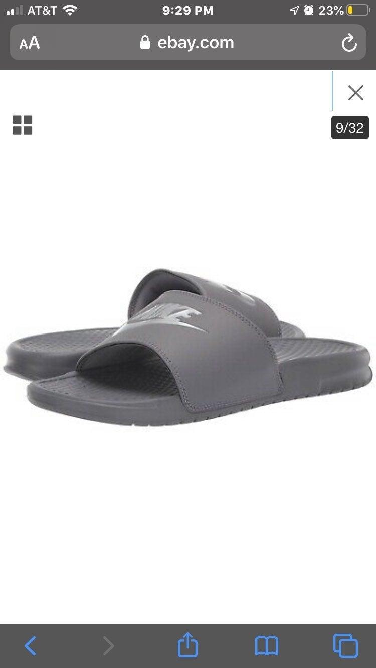Nike Gray Sandals   Mercari