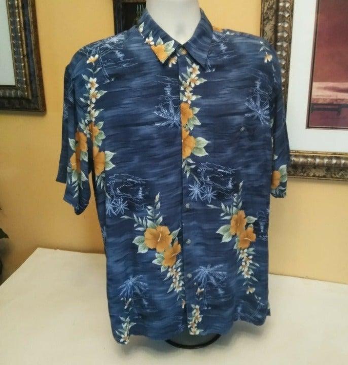 Pierre Cardin Hawaiian Button Front Shir