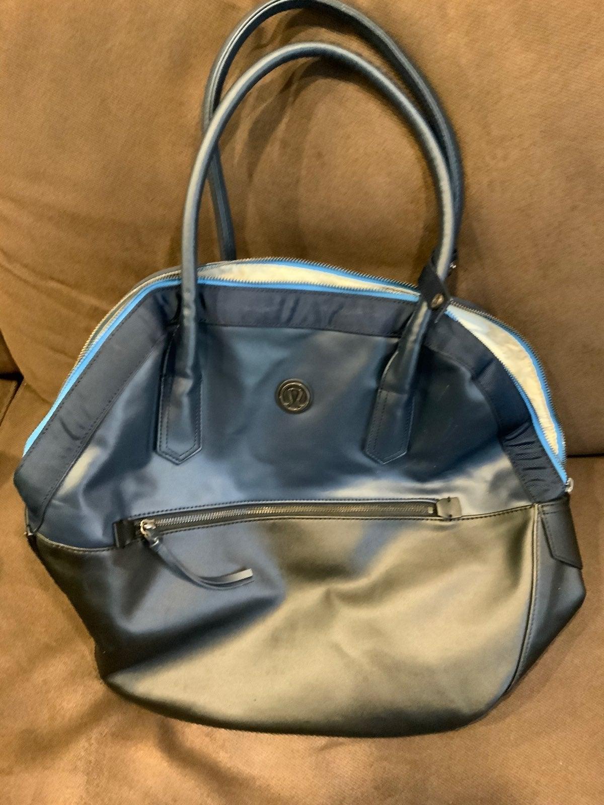 Lululemon Navy blue Yoga Duffle Gym Bag