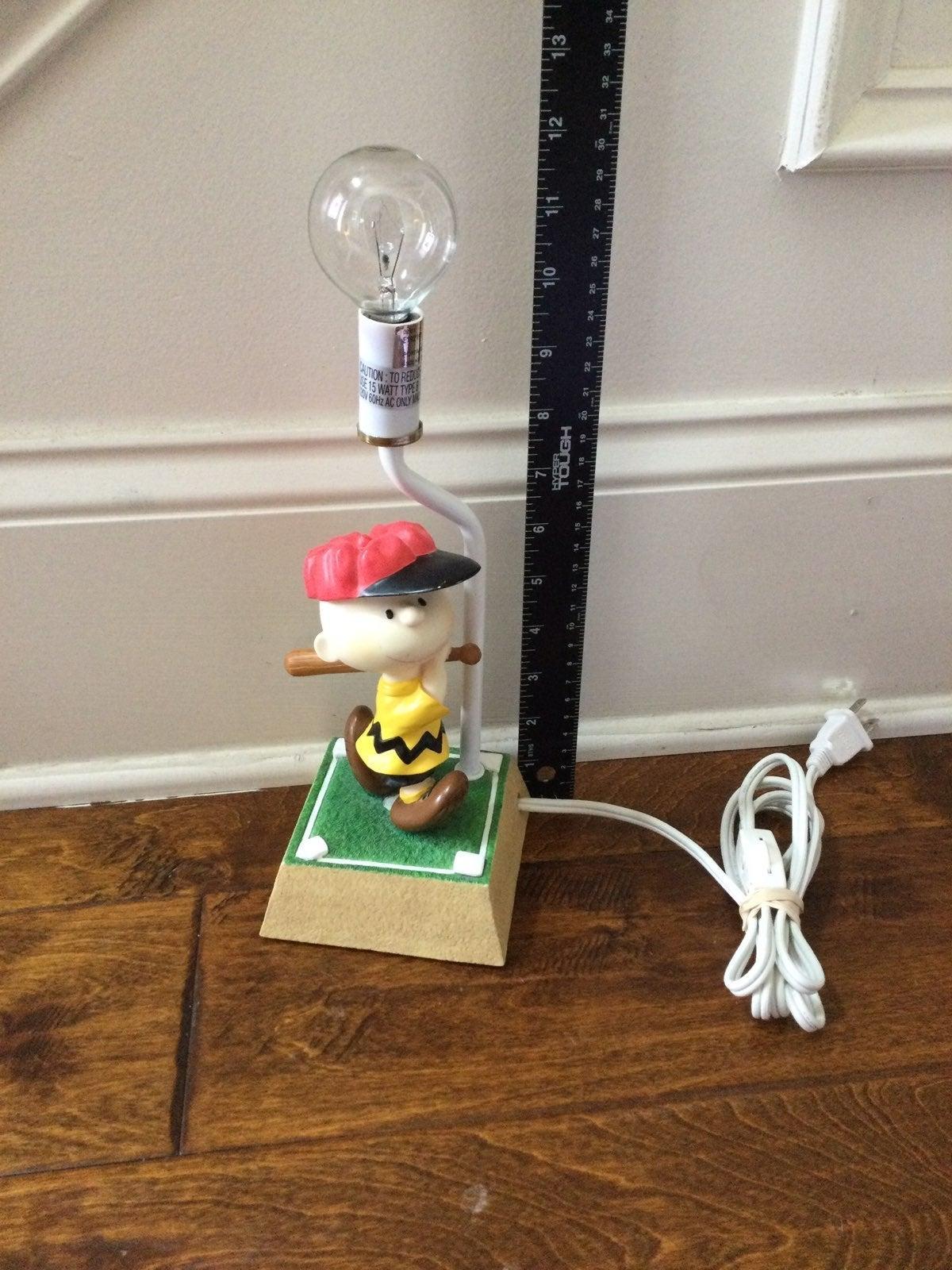 Vintage Peanuts Charlie Brown lamp
