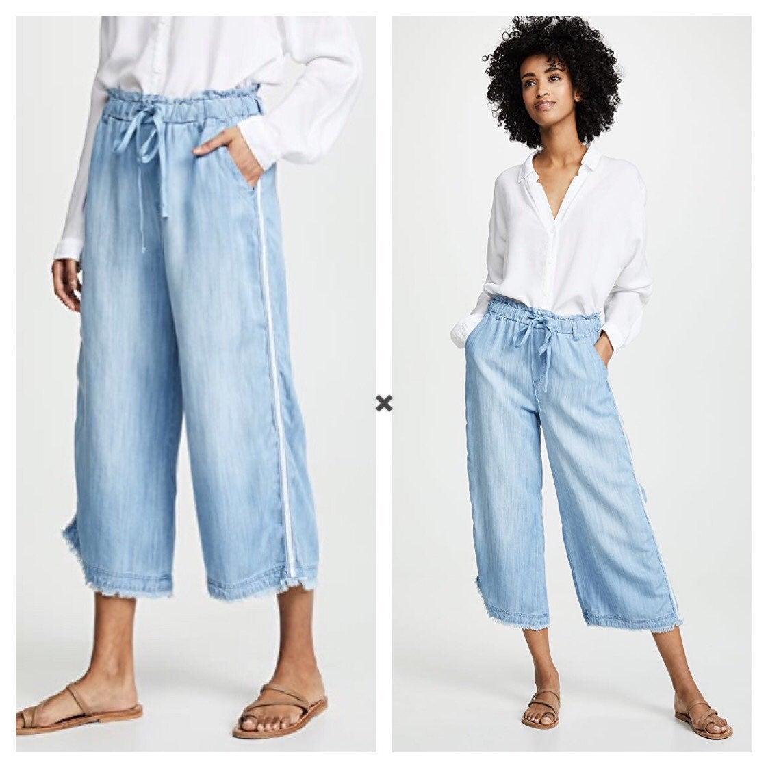 Bella Dahl Stripe Crop Wide Leg Pant S