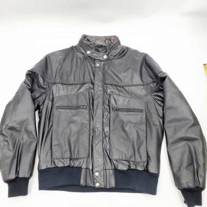VTG Porsha by Winer Black Leather Jacket