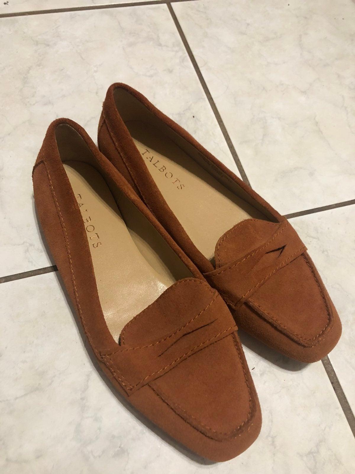 Talbots Slip on Flats Brown Size 6.5