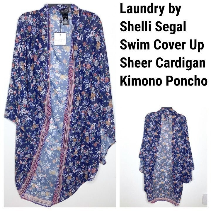 NEW Laundry By Shelli Segal Blue Floral