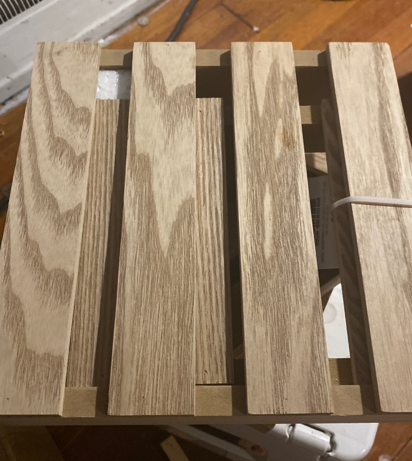Two tarrget wooden risers