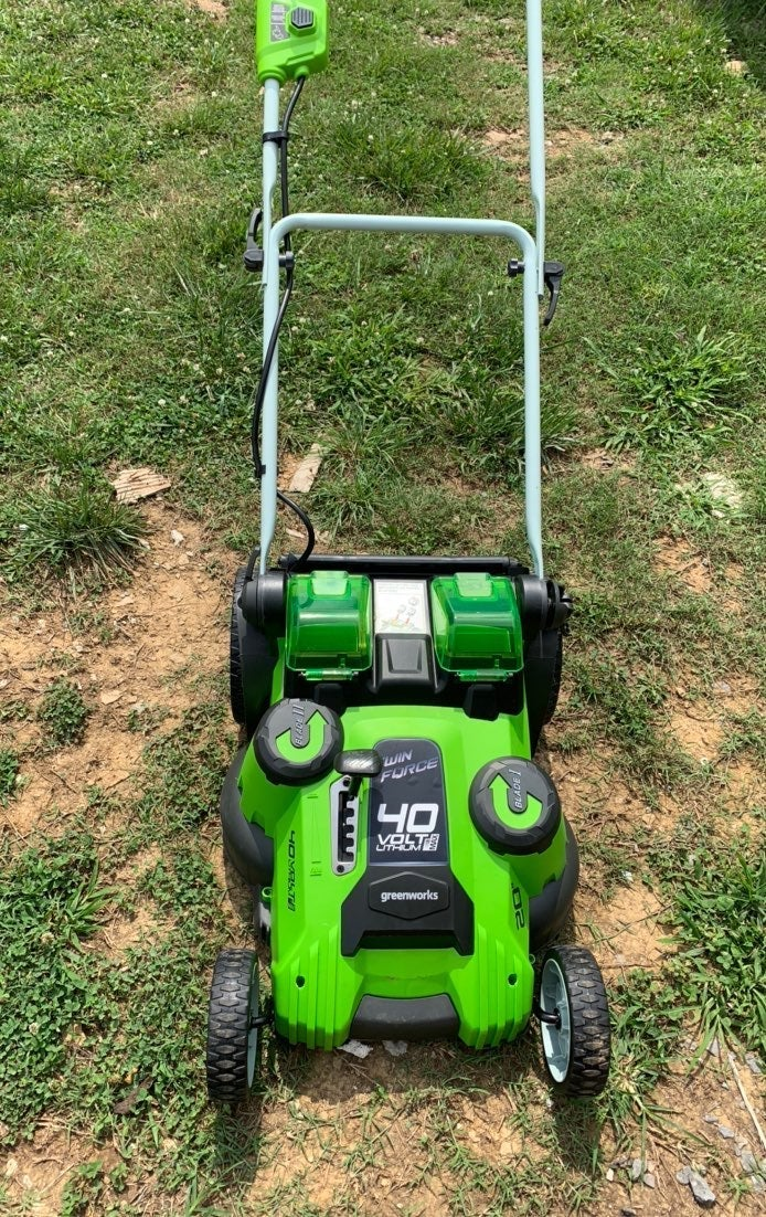 Green Works 40 amp twin force lawnmower