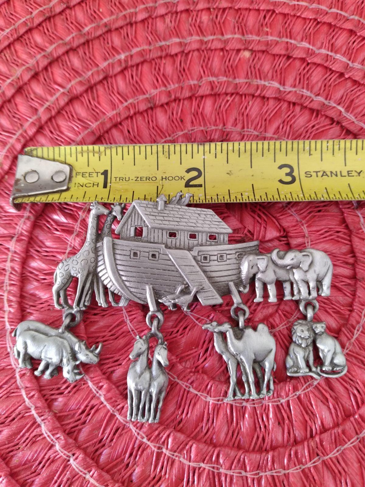 JJ pewter  Noah's ark pin