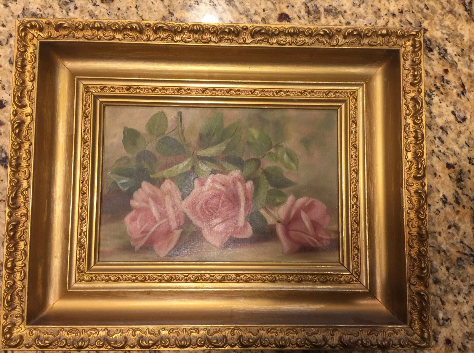 Shabby Chic Antique Oil Painting
