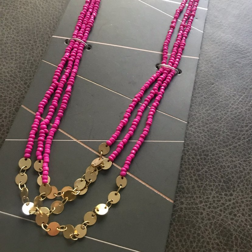 BaubleBar Pink Layered Necklace