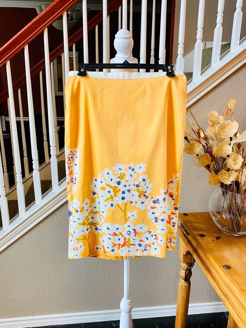 Benetton Floral Pencil Skirt