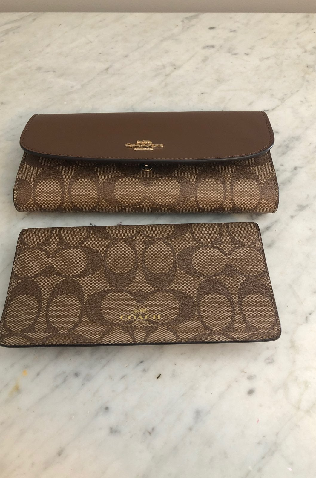 Coach trifold wallet & checkbook holder
