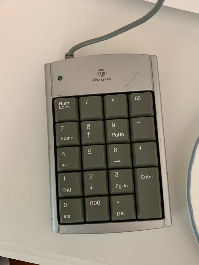 10-key pad to connect to laptop or compu