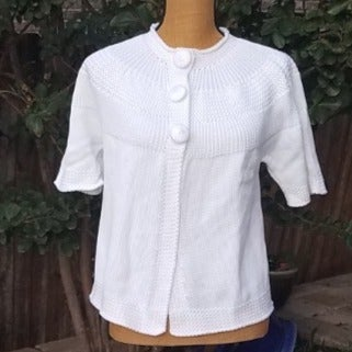 Talbots White Knitted Sweater