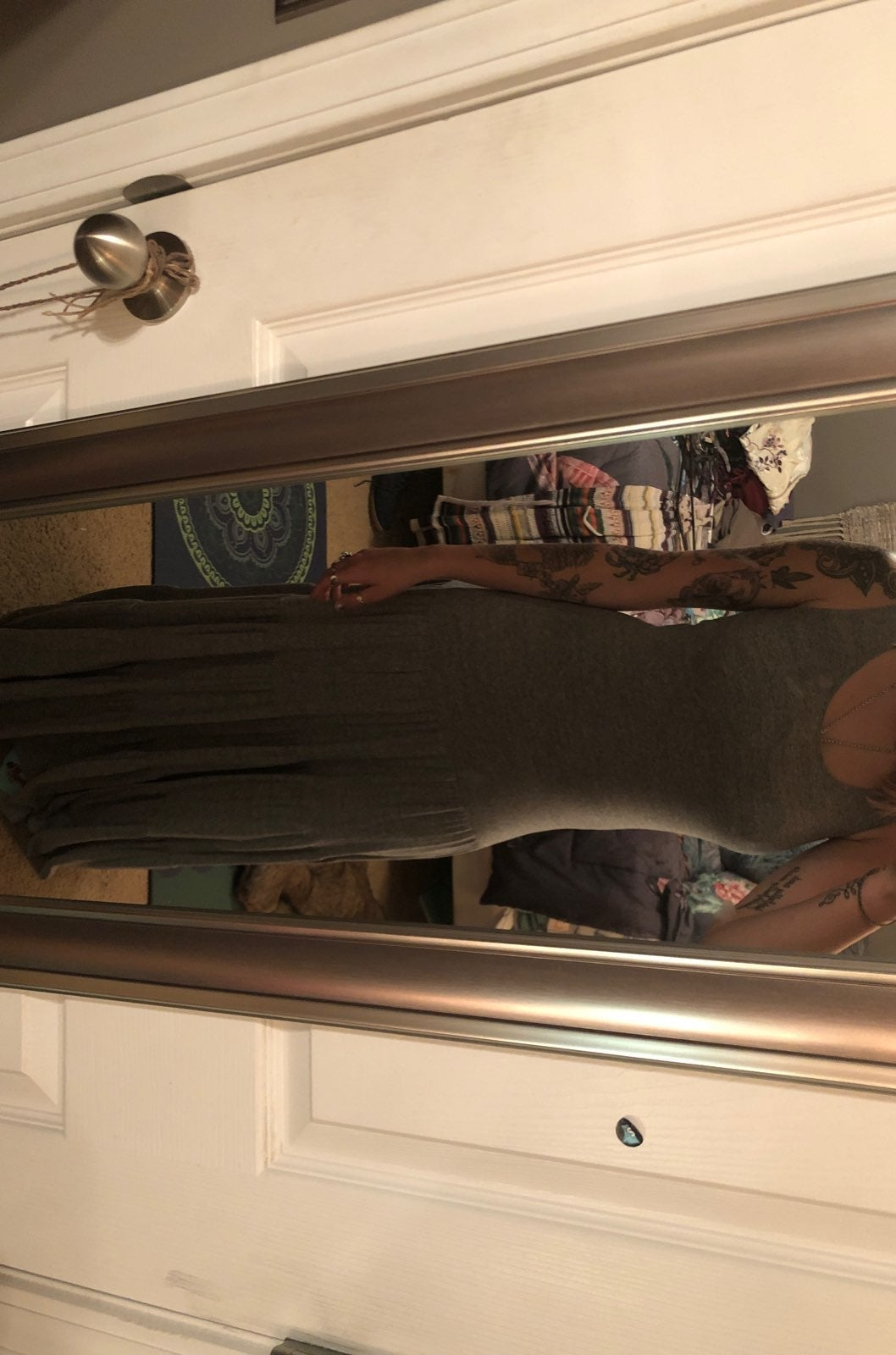 Small CAbi grey maxi dress