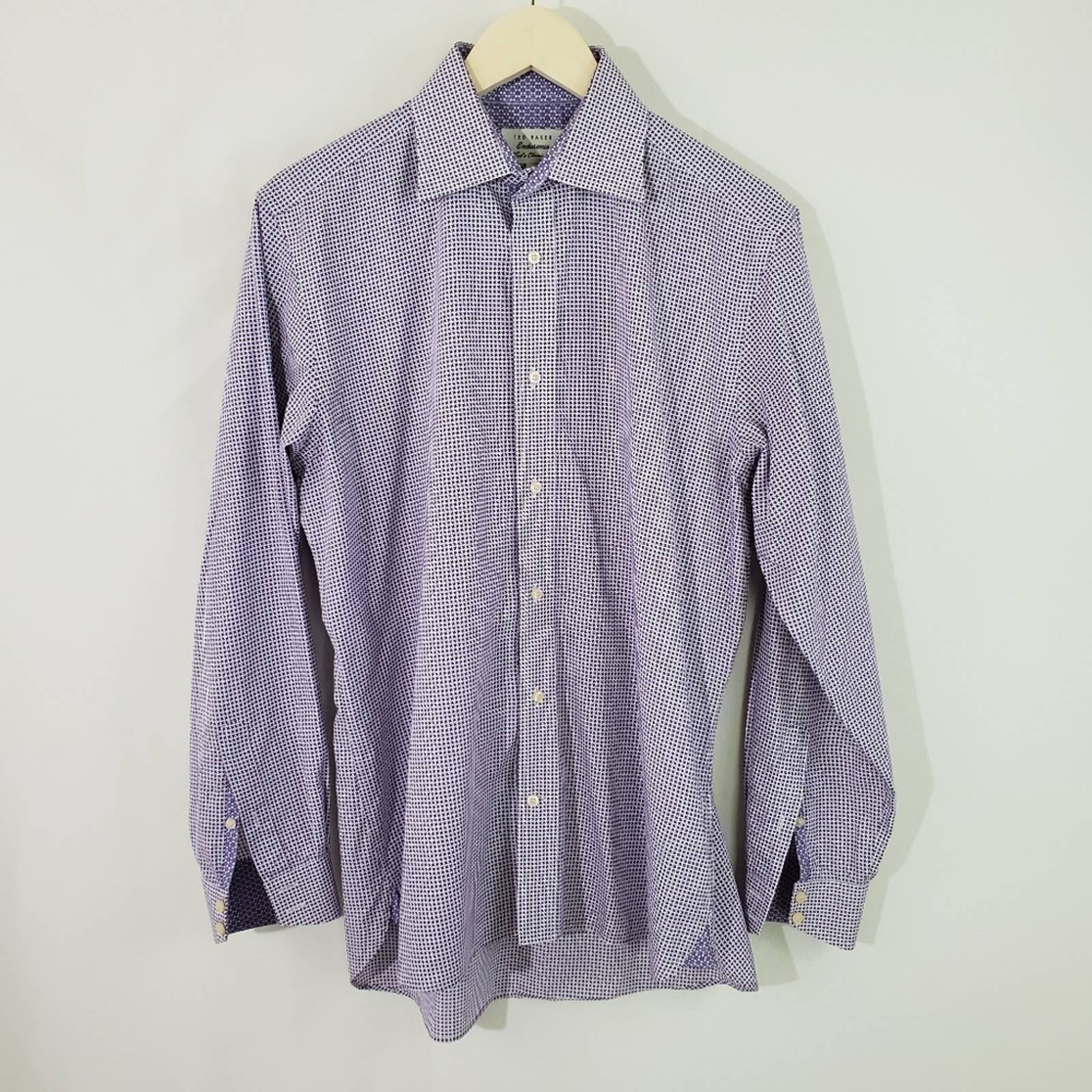 TED BAKER Men's Purple Star Print Shirt