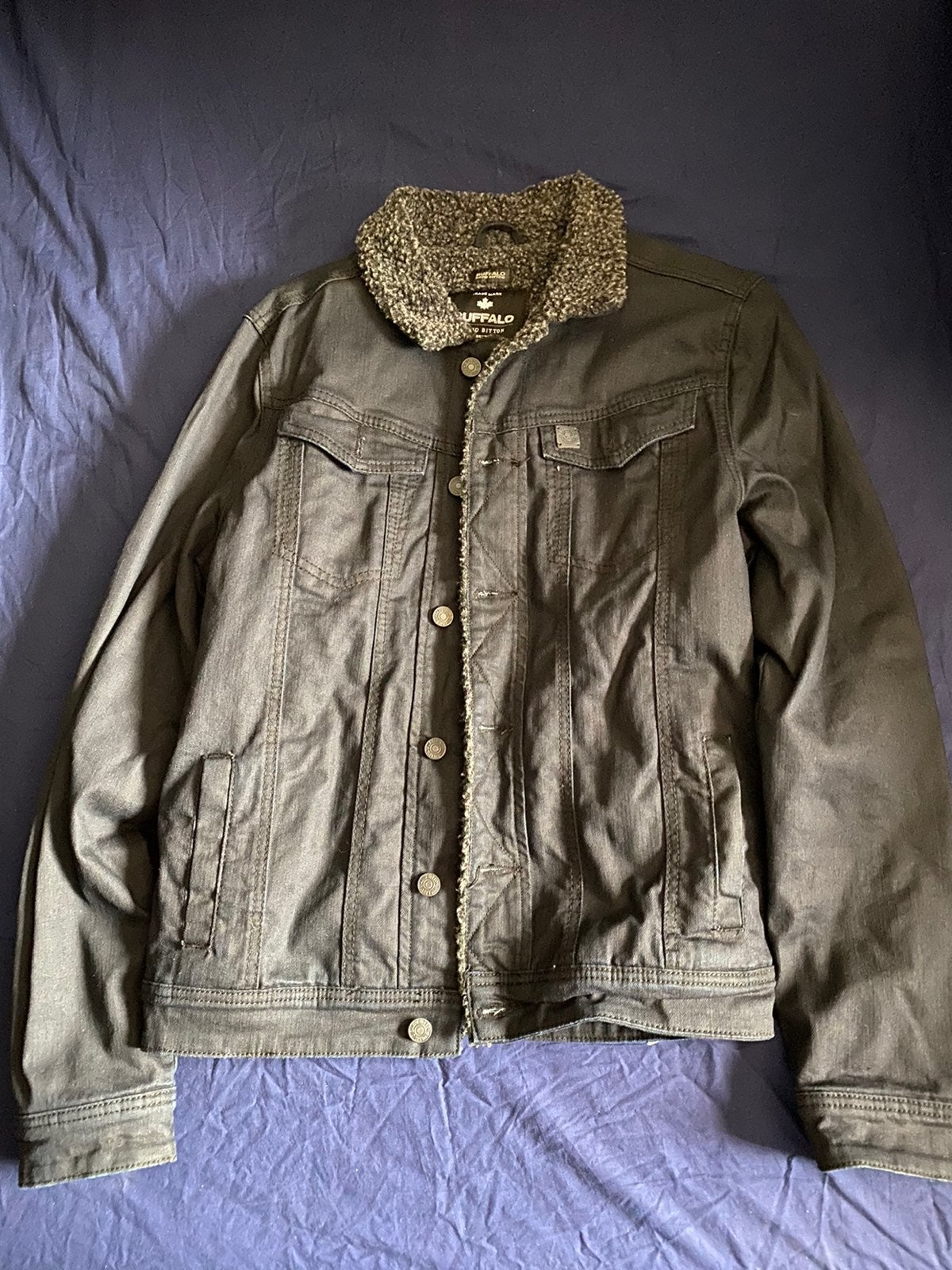 Buffalo Mens Denim Sherpa Jacket