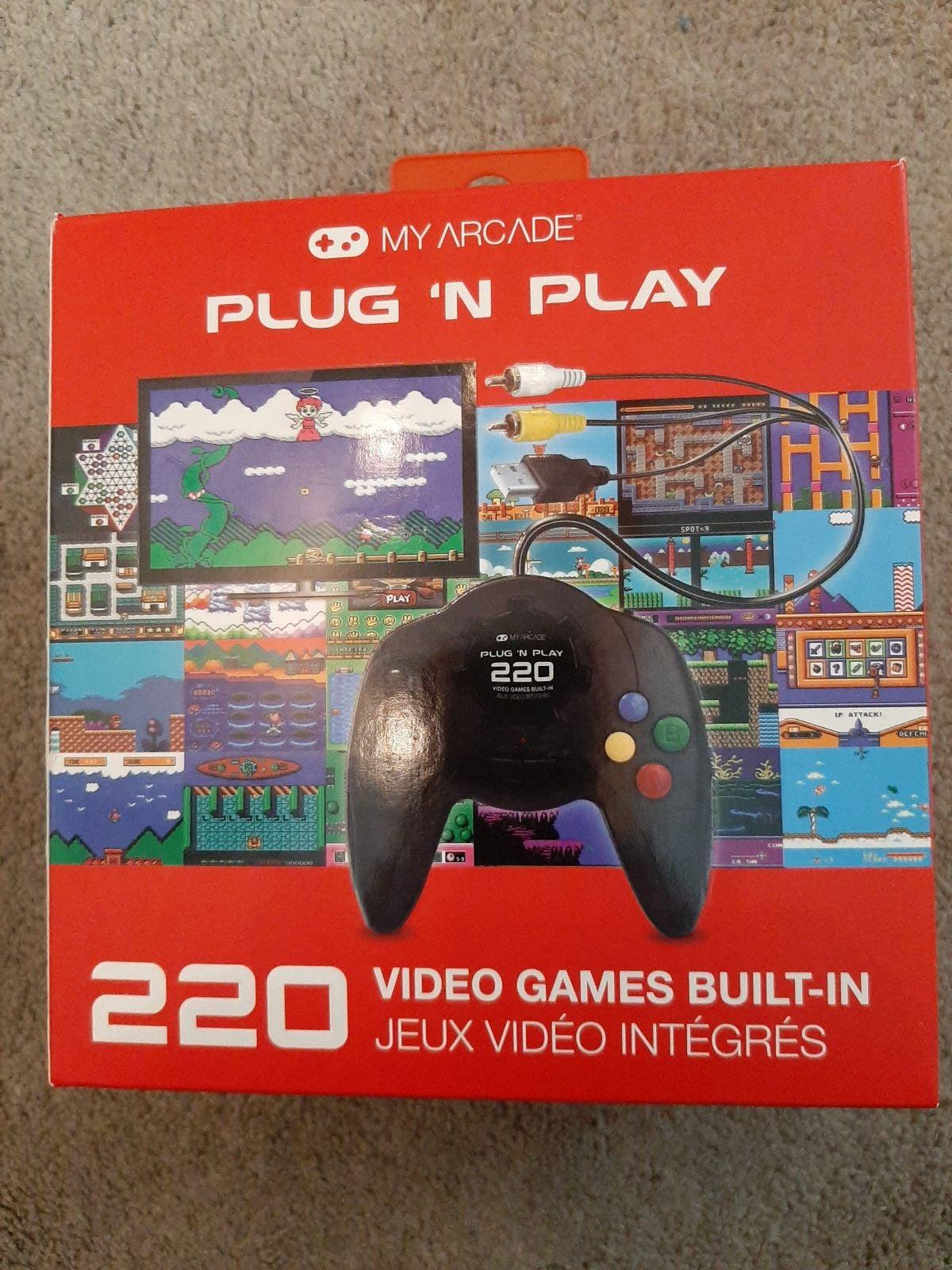 My Arcade Plug N Play 220 Video Games