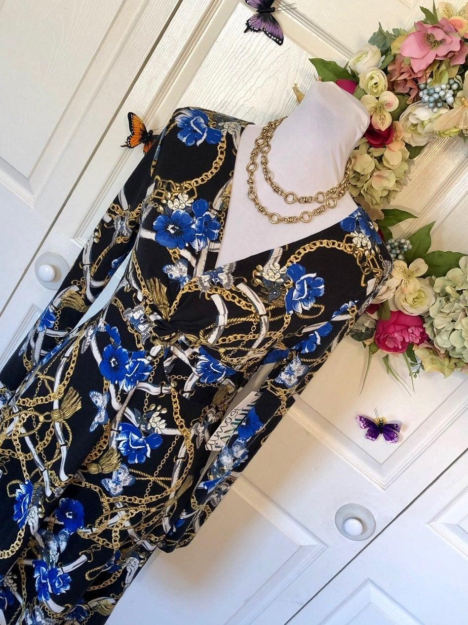 Baroque Chain Pattern Dress