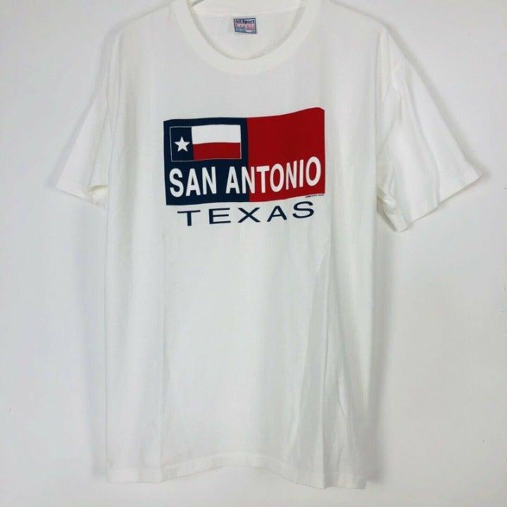 Vintage San Antonio Texas Flag Size L
