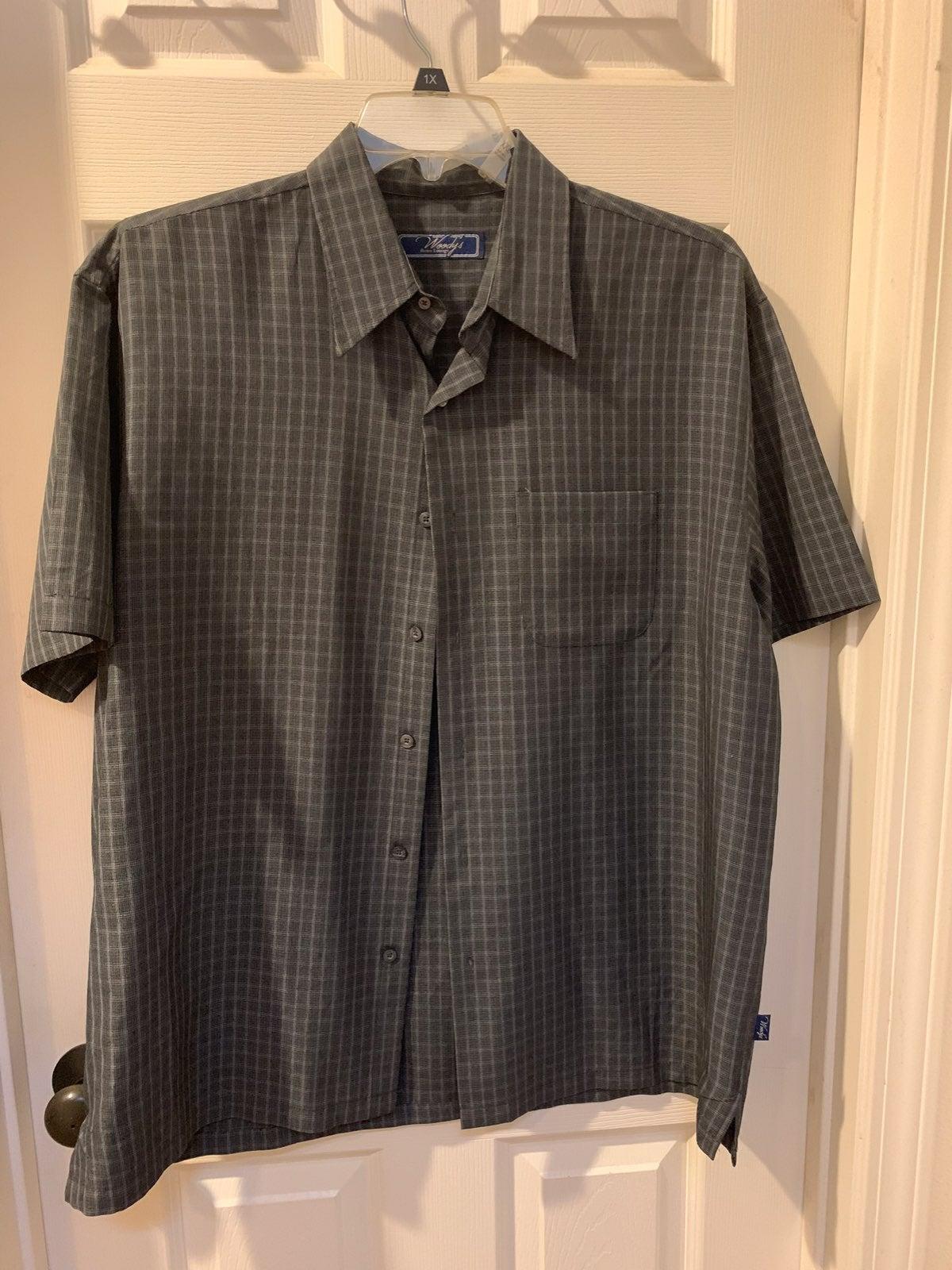 Men's Dress Shirt Short Sleeve XL