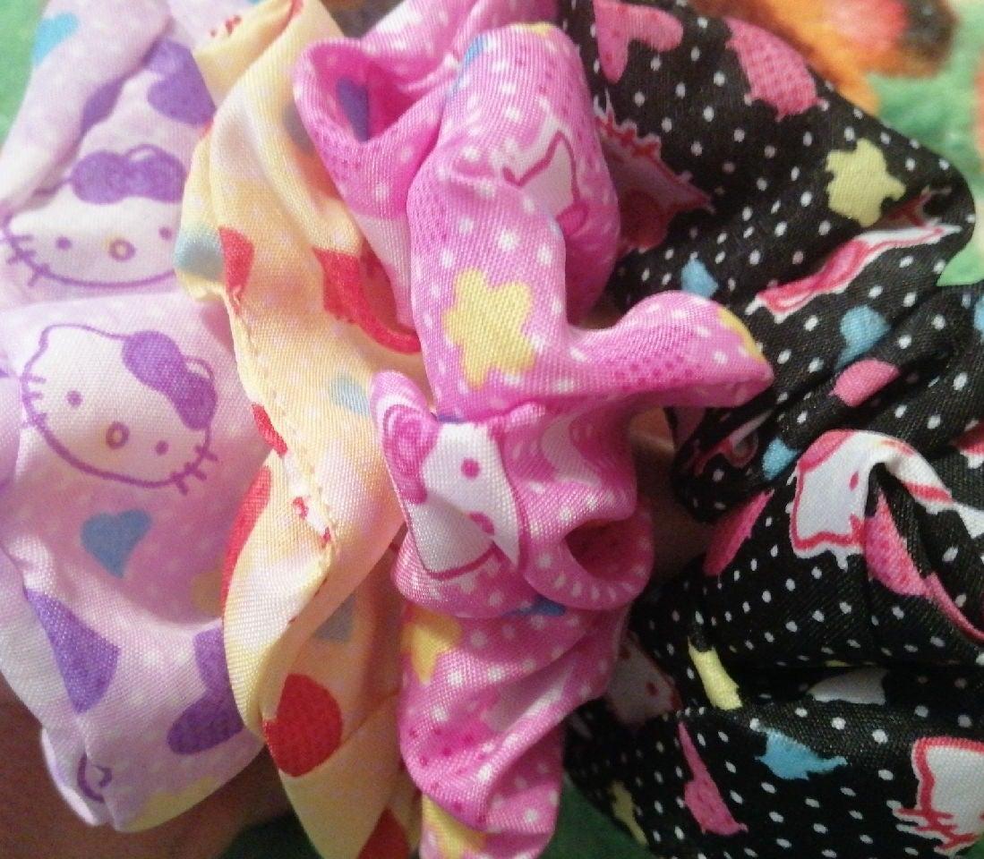Hello Kitty scrunches.