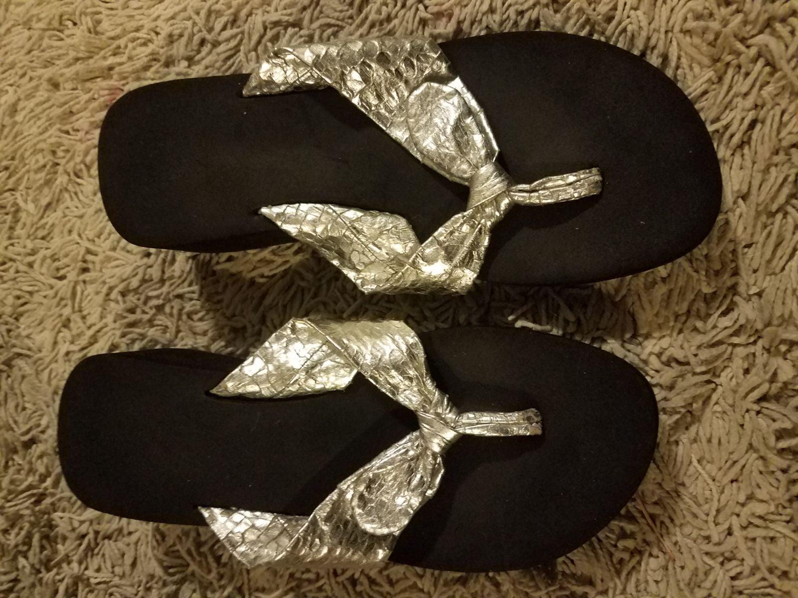Flip flop Sandles black and sliver