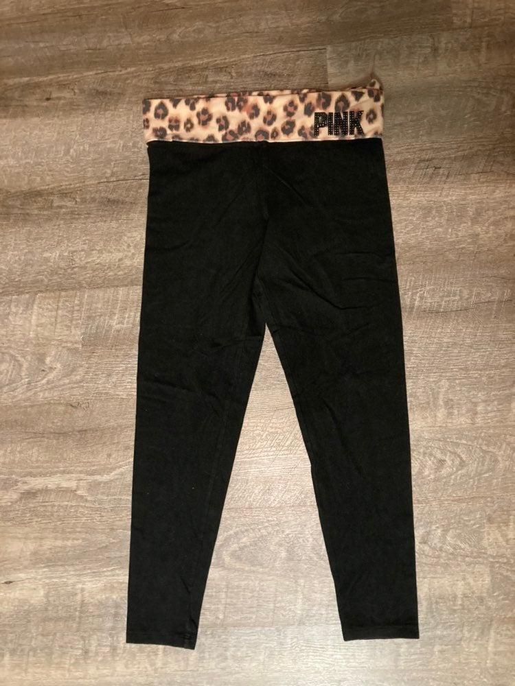 VS Pink Leopard Bling Legging